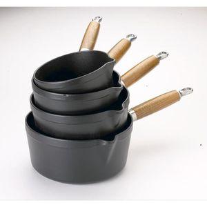 INVICTA PUV304401 Set de 4 casseroles - 14, 16, 18 et 20 cm - Noir