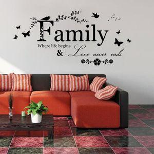 Personnalisé Ensemble nous faisons une Famille Mural Art Citation murales Autocollant