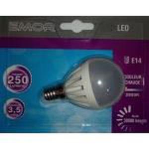 AMPOULE - LED EMOR - 1 x AMPOULE LED E14 - MINI-GLOBE - G45 3.5