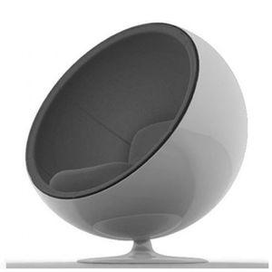fauteuil gris achat vente fauteuil gris pas cher cdiscount. Black Bedroom Furniture Sets. Home Design Ideas