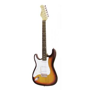dimavery 059226 st-203 guitare electrique gaucher blanc