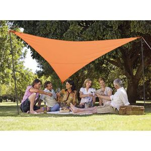 VOILE D'OMBRAGE Kit voile d'ombrage triangulaire 3,60 m terracotta