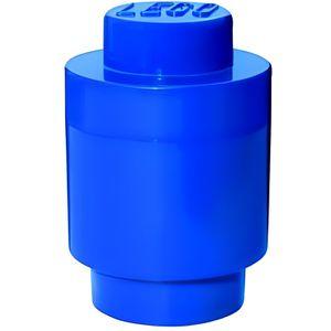BOITE DE RANGEMENT Lego géant boîte de rangement ronde bleue ()