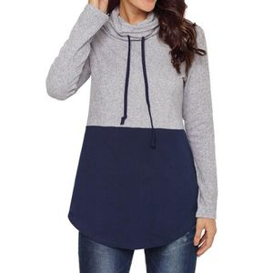 SOUS-PULL exquisgift    Femmes Casual manches longues Patchw