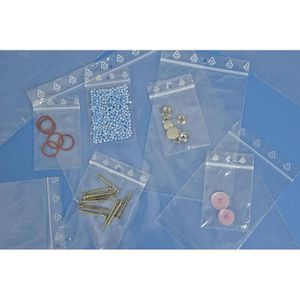 SACHET PLASTIQUE  100 Sachets plastique fermeture ZIP Transparent 40