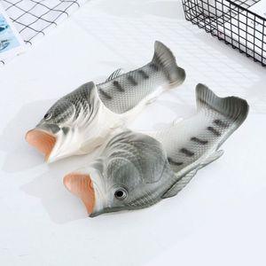 Chaussons en forme de Poisson Enfants Adultes 3D Sandales Pantoufles Jaune 42/43 h3HKLdxkc5
