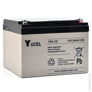 BATTERIE VÉHICULE Batterie plomb AGM Y24-12I 12V 24Ah YUCEL - Unité(
