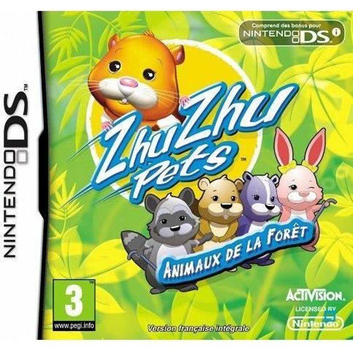 JEU DS - DSI ZHU ZHU PETS ANIMAUX DE LA FORÊT / Jeu console DS