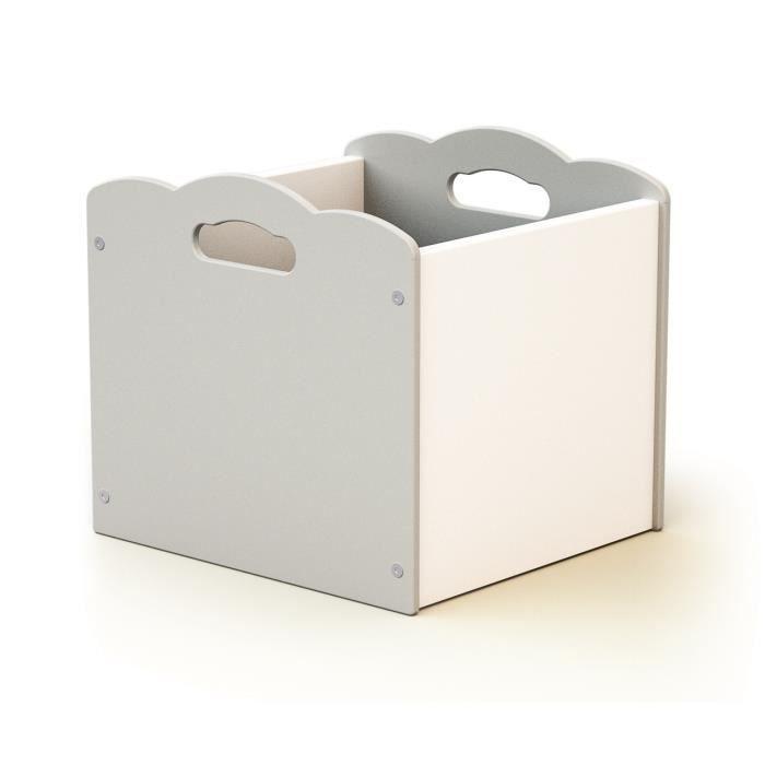 AT4 Coffre à jouets - Blanc/gris