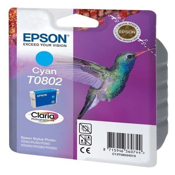 Epson T0802 Colibri Cartouche d'encre Cyan