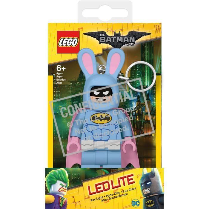 LEGO Batman Movie Porte Cle lapin de paques - Visage lumineux - Lumière LED blanc - Tête mobile - 9,53 X 4,06 X 14,92 cm