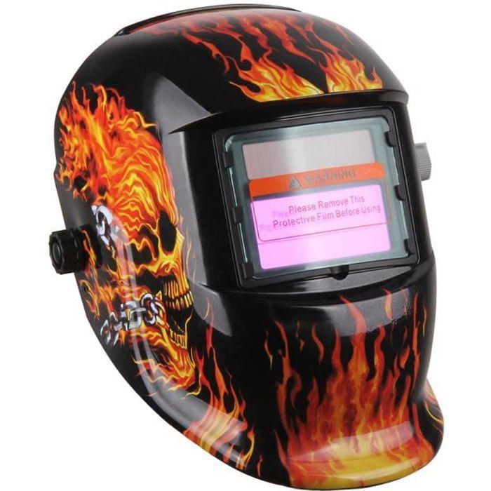 masque de soudure cr ne en feu obscur variable avec filtre. Black Bedroom Furniture Sets. Home Design Ideas