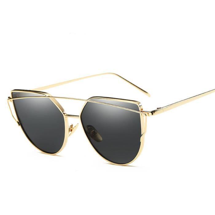 mixte de sunglasses homme marque noir femme Golden de Luxe en Cadre soleil  Fashion de Métal ... b5a0b78b7b0a