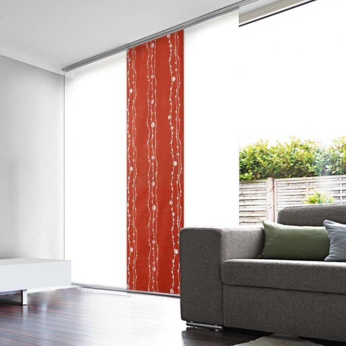 panneau japonais rouge d vor vagues 45cm x 260cm achat vente panneau japonais soldes d s. Black Bedroom Furniture Sets. Home Design Ideas
