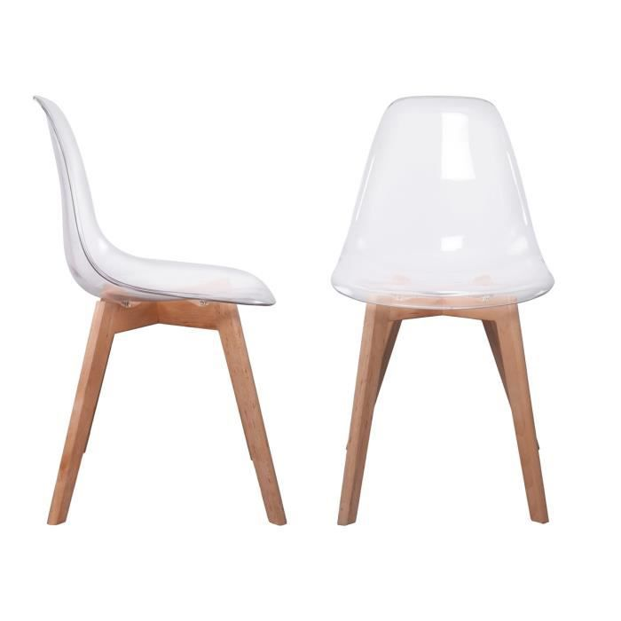 Cdiscount chaise scandinave cdiscount fauteuil for Chaises scandinaves transparentes