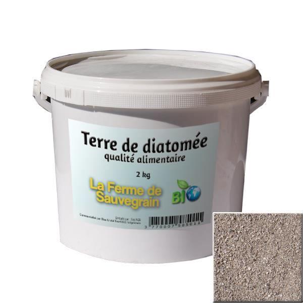 Fermesauvegrain Terre De Diatomée Pour Poules Chats Chiens - Protection Contre Les Insectes Qualité Alimentaire 2 Kg