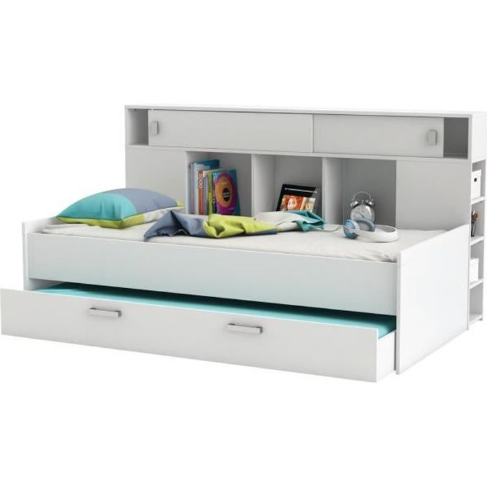 fded9a9d9b2b0e Tete de lit enfant avec rangement - Achat   Vente pas cher