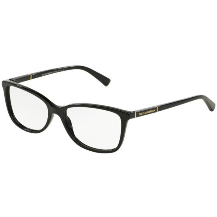 f5763cd6d4c2e7 Lunettes de vue Dolce   Gabbana DG3219 501 Black 53-16 Noir - Achat ...