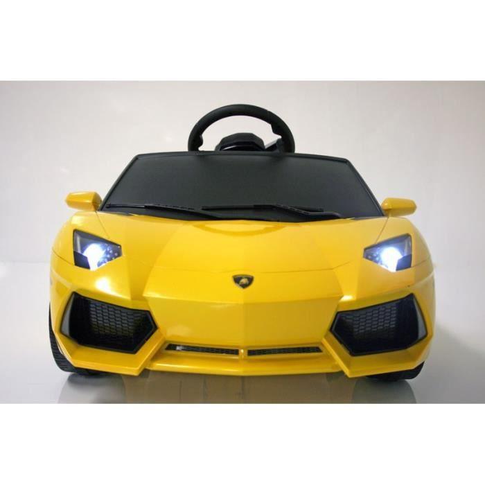 Injusa Lamborghini Voiture Electrique Enfant Avec Telecommande Parentale Aventador Batterie 6v