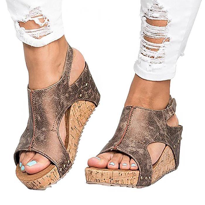 Cher Pas Achat Femme Compensees Chaussures Vente q4gTzwXx