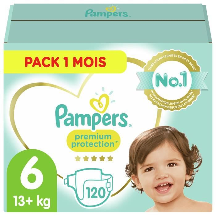 COUCHE PAMPERS Premium Protection Taille 6 15+ kg - 120 C