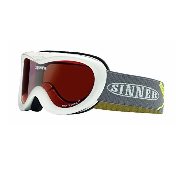 Sinner Freak Masque de ski avec verres miroir Noir Mat ZeC3IaB
