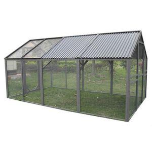 chenil avec toit achat vente chenil avec toit pas cher cdiscount. Black Bedroom Furniture Sets. Home Design Ideas