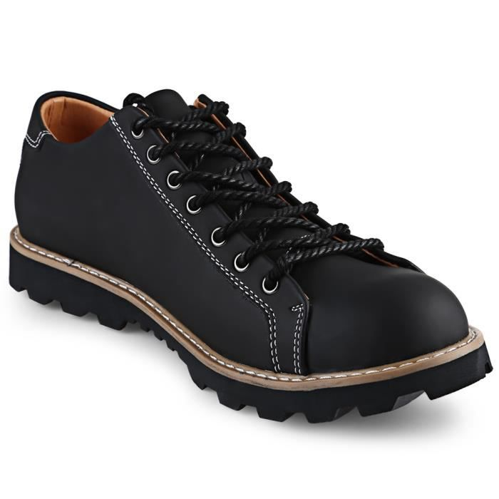 British Style Solide Couleur lacent Hommes Chaussures Casual