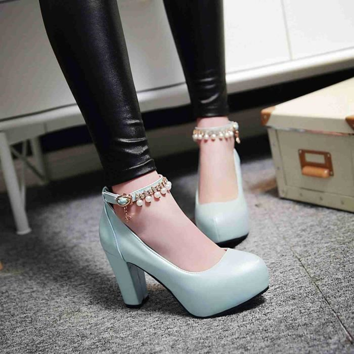 Chaussures Femmes Nouvelle Mode Solides élégantes Belles Avec Pendentif