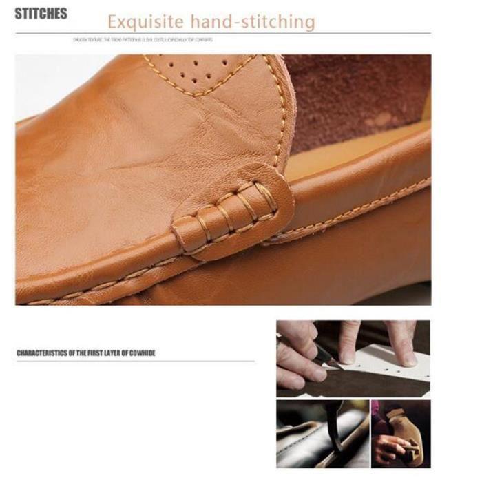 chaussure homme en cuir De Marque De Luxe 2017 ete Moccasin hommes Nouvelle Mode Confortable Loafer Grande