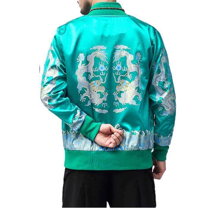 D'hiver D'homme Veste Pardessus Rétro Imprimé Outwear Col Officier Manteau Yg5694 Zipper Rxw755