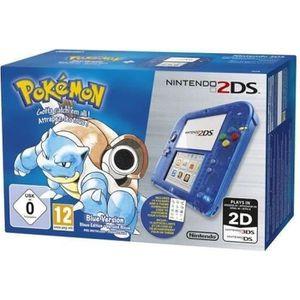 CONSOLE 2DS Nintendo 2DS Bleu Transparent + Jeu Pokémon Versio