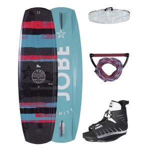 WAKEBOARD JOBE Pack Wakeboard Vanity 10/12 - Bleu et noir -