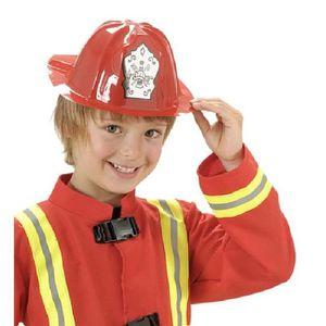CHAPEAU - PERRUQUE 12 Casques de pompier enfant 2/8 ans Multicolore