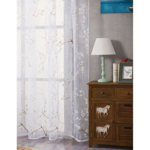 RIDEAU beguin® Plum Blossom fenêtre Rideaux couleur de la