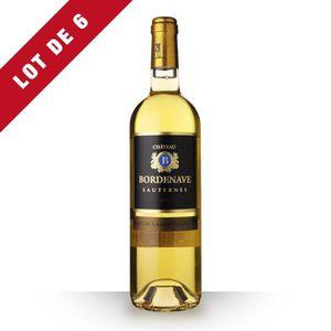 VIN BLANC 6X Château Bordenave 2014 Blanc 75cl AOC Sauternes