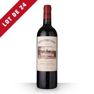 VIN ROUGE 24X Château Picque Caillou 2014 Rouge 75cl AOC Pes