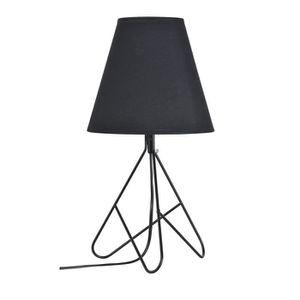 LAMPE A POSER SELLIE Lampe à poser métal - Ø 20 x H 38 cm - Noir