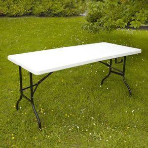 TABLE DE JARDIN  TABLE PLIANTE D'APPOINT PORTABLE POUR CAMPING OU R
