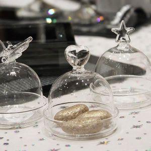 CLOCHE DE SERVICE Mini cloche avec fond cadeau d'assiette coeur