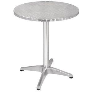 MANGE-DEBOUT Boléro Bistro Table ronde en acier inoxydable 600m
