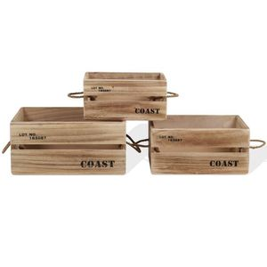 caisse de rangement bois achat vente caisse de rangement bois pas cher cdiscount. Black Bedroom Furniture Sets. Home Design Ideas