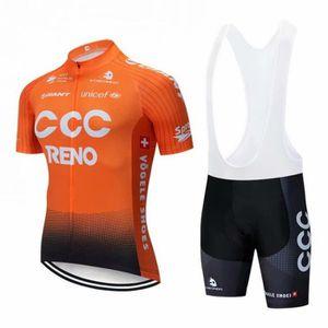 MAILLOT DE CYCLISME 2019 CCC Maillot de Cyclisme Manches Courtes + Cui