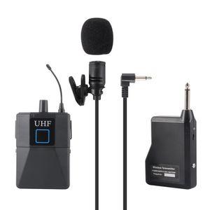 HAUT-PARLEUR - MICRO Ensemble de microphone à cuvette UHF Lavalier cond