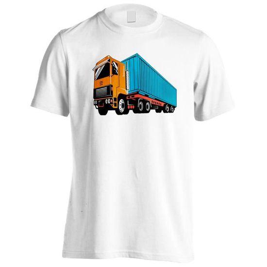 5f3ec11620 T-shirt -Camion en camion Car Funny Vintage Art City Hommes T-Shirt yy48m  Blanc - Achat / Vente t-shirt - French Days dès le 26 avril ! Cdiscount