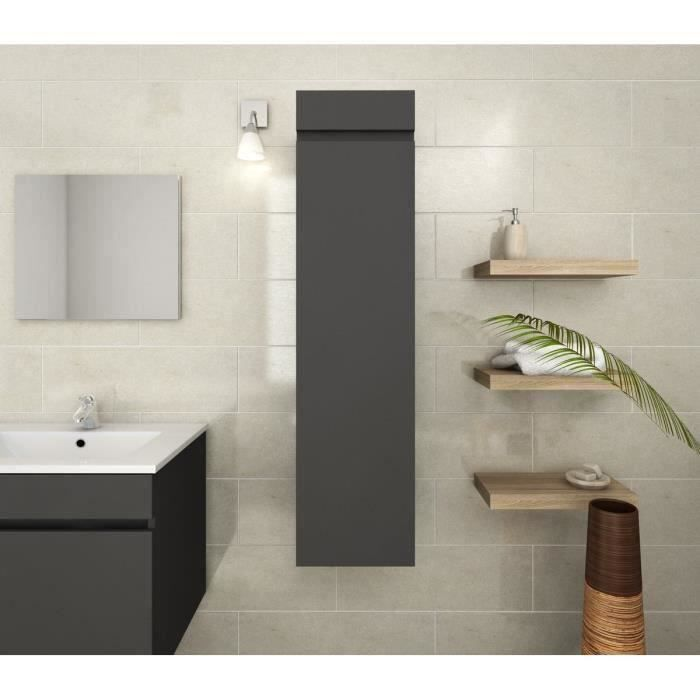 luna colonne de salle de bain l 30 cm gris mat achat. Black Bedroom Furniture Sets. Home Design Ideas