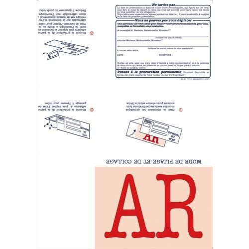 Boite de 150 imprimés recommandés avec AR A4 IB1