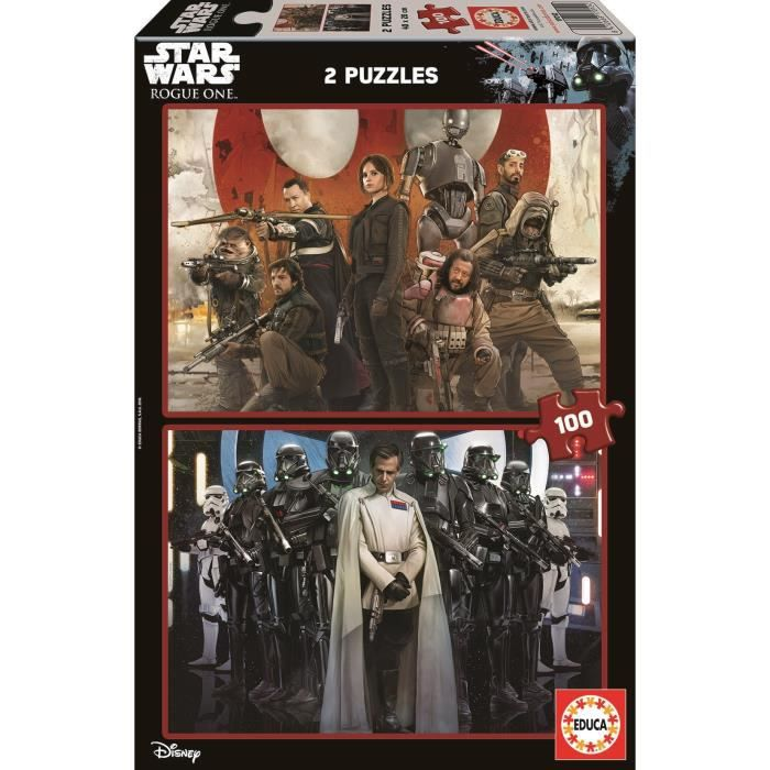 STAR WARS - 2 Puzzles 100 Pièces Rogue One
