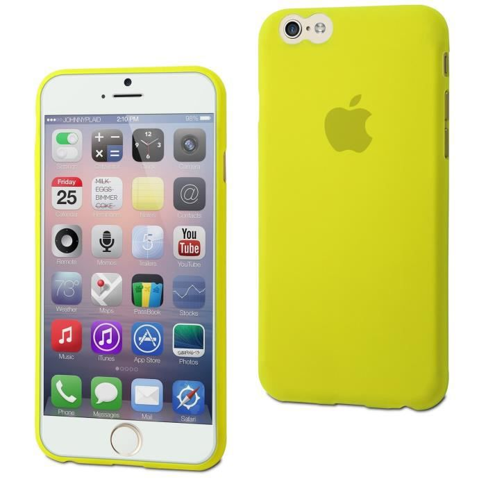 MUVIT Coque Thingel Vert Citron Apple Iphone 6-6s