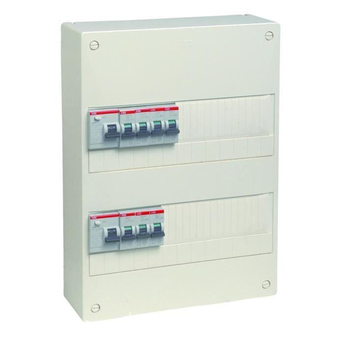 abb coffret lectrique pr quip et pr c bl volutif avec 2 rang es 26 modules achat. Black Bedroom Furniture Sets. Home Design Ideas
